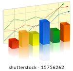 business bar graph | Shutterstock .eps vector #15756262