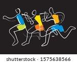 running race marathon jogging... | Shutterstock .eps vector #1575638566