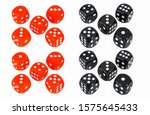 Red dice and black dice...