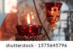 Orthodox Church Lamp With Lit...