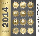 2014 year vector calendar for... | Shutterstock .eps vector #157568918