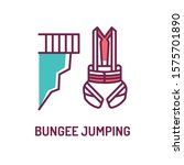 bungee jumping and body harness ...