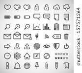 set of web icons | Shutterstock .eps vector #157571264