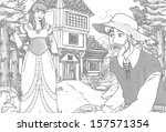 the sketch coloring page  ... | Shutterstock . vector #157571354