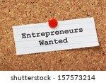 Постер, плакат: The phrase Entrepreneurs Wanted