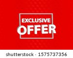 exclusive offer 3d style banner ... | Shutterstock .eps vector #1575737356