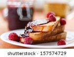 French Toast With Raspberry Ja...