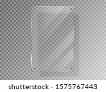 realistic glass plate of... | Shutterstock .eps vector #1575767443