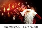 Image Of Santa Claus In Red...