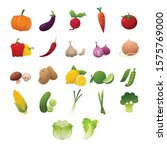 set of fresh vegetables on... | Shutterstock .eps vector #1575769000