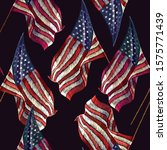 embroidery rippled american... | Shutterstock .eps vector #1575771439