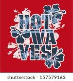 hot waves   vector vintage... | Shutterstock .eps vector #157579163