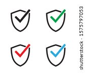 shield with checkmark symbol....   Shutterstock .eps vector #1575797053