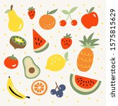fresh tropical fruit vector... | Shutterstock .eps vector #1575815629