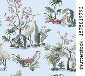seamless pattern in chinoiserie ... | Shutterstock .eps vector #1575819793