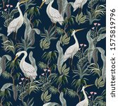 seamless pattern in chinoiserie ...   Shutterstock .eps vector #1575819796