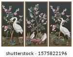 folding screen in chinoiserie...   Shutterstock .eps vector #1575822196