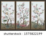 Folding Screen In Chinoiserie...