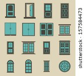 door and window vector   color | Shutterstock .eps vector #157584473