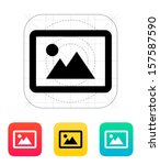 landscape photo icon. vector...