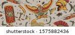 roman eagle  spartan helmet ... | Shutterstock .eps vector #1575882436