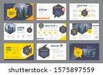 abstract presentation templates ... | Shutterstock .eps vector #1575897559