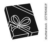 book vector icon.black vector...