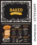 bakery menu template for... | Shutterstock .eps vector #1575910099