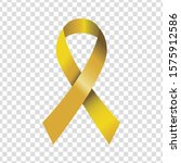 yellow bow emblem. protest... | Shutterstock .eps vector #1575912586