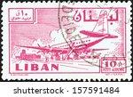 lebanon   circa 1959  a stamp... | Shutterstock . vector #157591484