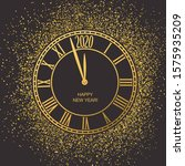 countdown on classical clock...   Shutterstock .eps vector #1575935209