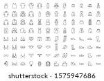 clothes icons set. dress  skirt ...   Shutterstock .eps vector #1575947686