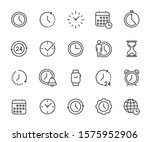 vector set of time line icons.... | Shutterstock .eps vector #1575952906