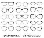 glasses silhouette. stylish...   Shutterstock .eps vector #1575972130