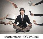 japanese businessman is... | Shutterstock . vector #157598603