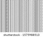 plaits pattern. ornamental... | Shutterstock .eps vector #1575988513