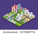 isometric set module city with... | Shutterstock . vector #1575989776