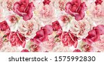 seamless floral pattern with... | Shutterstock . vector #1575992830
