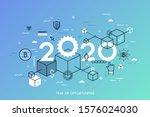 infographic concept  2020  ... | Shutterstock .eps vector #1576024030