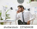 businessman with rimmed glasses ... | Shutterstock . vector #157604438