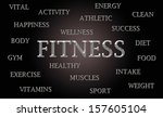 fitness word cloud written in... | Shutterstock . vector #157605104