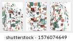 square pixel multicolored... | Shutterstock .eps vector #1576074649