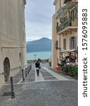 Small photo of [object ObjectCastel Gandolfo, Lazio, Italia – 24 ottobre 2019: Scorcio panoramico del Lago Albano da Via Oratorio]
