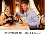 beautiful young couple with... | Shutterstock . vector #157614170
