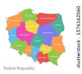 poland map  administrative... | Shutterstock .eps vector #1576162060