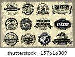 vector organic bakery labels... | Shutterstock .eps vector #157616309