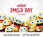 world emoji day vector banner... | Shutterstock .eps vector #1576163959