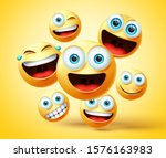 emoticon and emoji group vector ... | Shutterstock .eps vector #1576163983