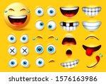 Emoji Creation Kit Vector Set....