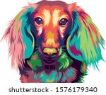 Dachshund Dog Pop Art. Long...